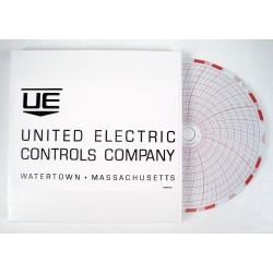 """UD 6282-169 Pressure sens circular charts, 06.000"""" 7D"""