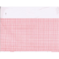 "MQE 9402-024 Chart Paper, Red Grid, 8.441""x 275' x 300, 8 pads/box"