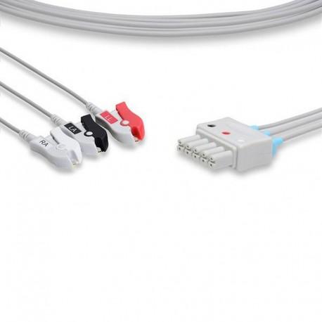0012-00-1170 ECG Leadwire 3 Leads Pinch
