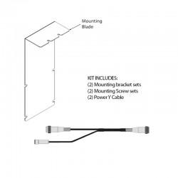 NDS 90Z0125  (2) Brackets and Screw kit for Zero Wire Ultra