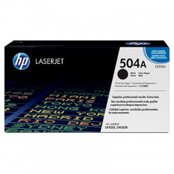 CE250X HP 504A Black Toner Cartridge, High Yield