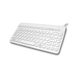 SLIMC/B1 Black Slim Cool 12 Water Resistant Keyboard - QWERTY - Cable - PS/2, USB