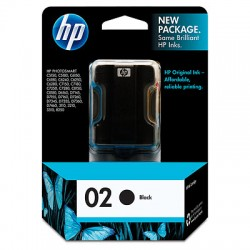 C8721WN HP 02 Black Ink Cartridge
