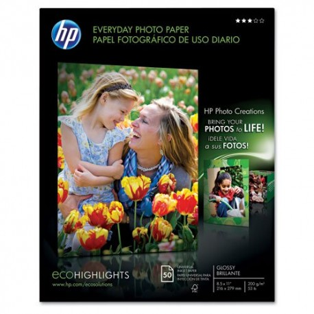 """Q8723A (Q2509AND) Every Day Photo Paper Glossy, 8.5"""" x 11"""", 300 prints"""